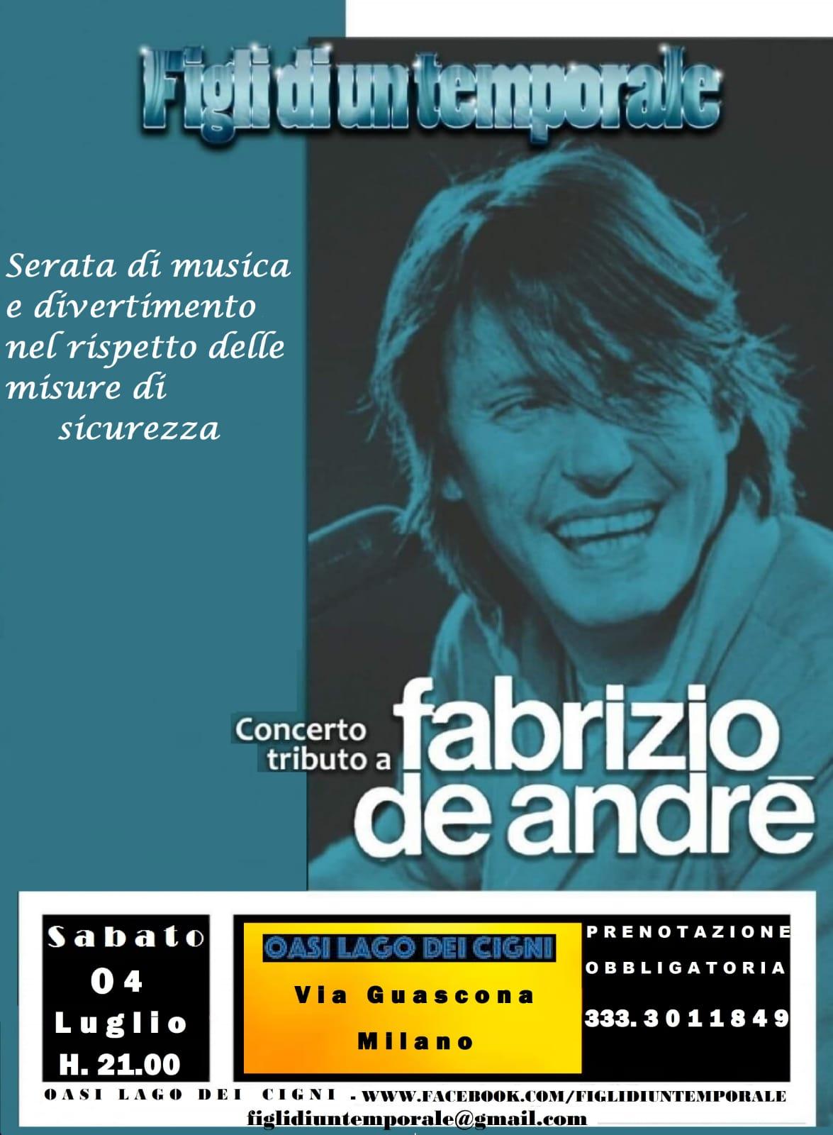 Concerto Tributo a Fabrizio de André Luglio 2020 Milano