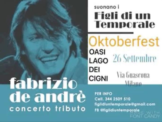 Tributo a Fabrizio de André e Festa della Birra 26 Settembre 2020 Milano
